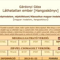 Hangoskönyv! Húszéves a Magyar Elektronikus Könyvtár