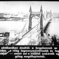 55 éve adták át az új Erzsébet hidat – Diafilmen a híd épülésének emlékezetes pillanatai