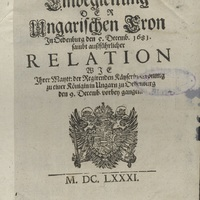 A Szent Korona-kutatás számára is újdonságot jelentő nyomtatvány került gyűjteményünkbe