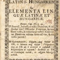 Latin–magyar ábécéskönyv