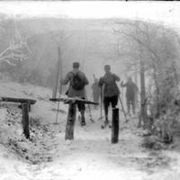 Száz évvel ezelőtti tél zselatinos üvegnegatívokon