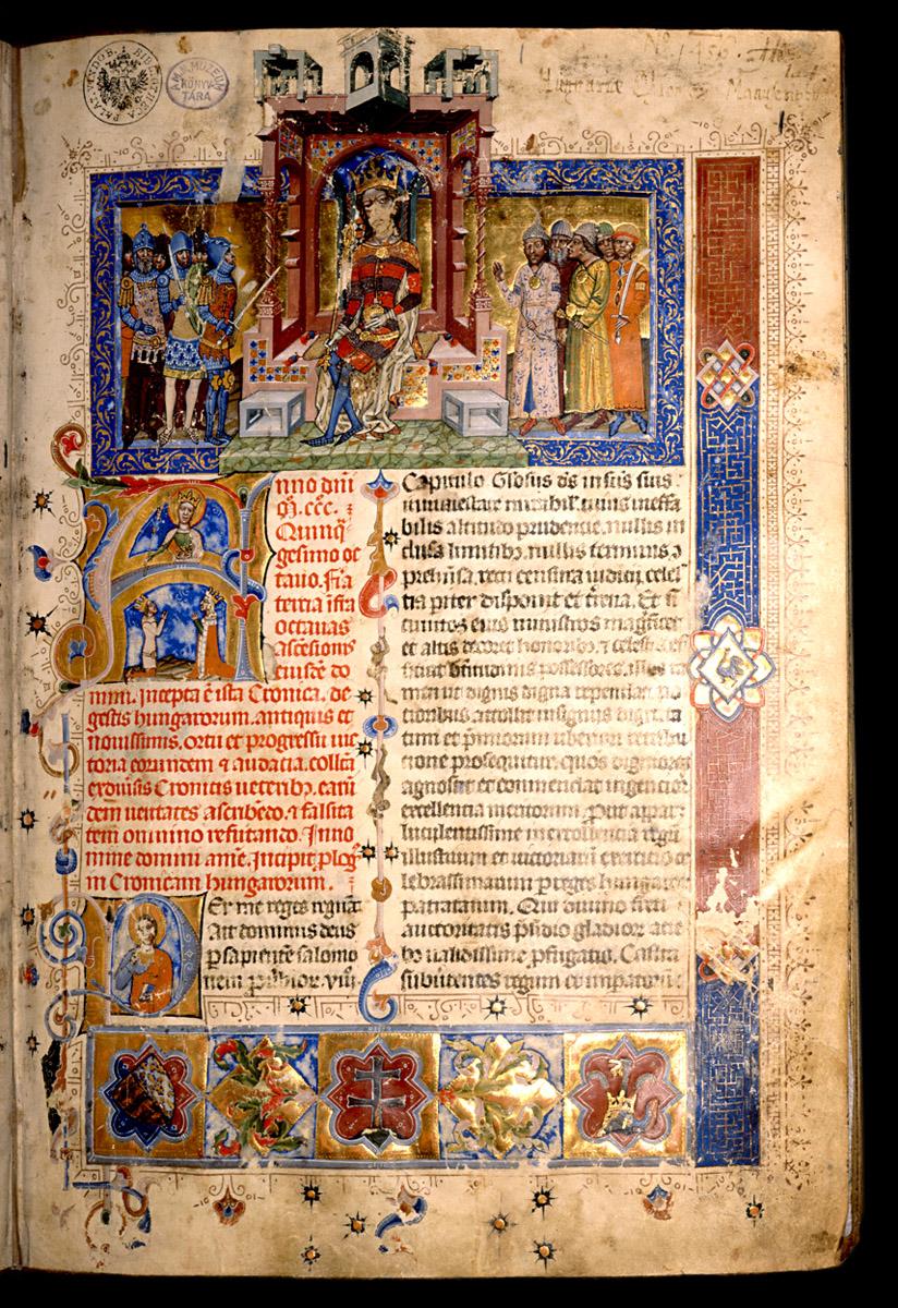 Képes Krónika (Chronicon pictum), Magyarország, 1358 után – Cod. Lat. 404 – Kézirattár