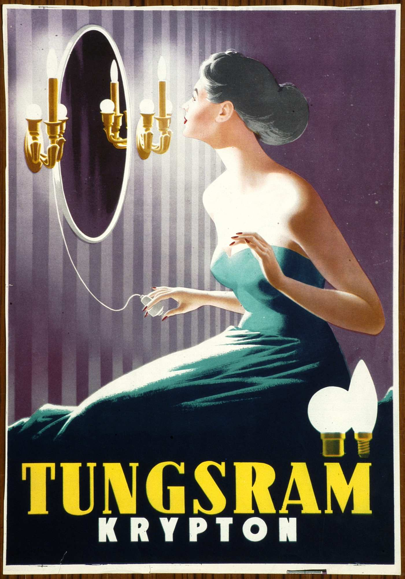 Tungsram krypton. Jelzet: PKG.1953/507 – Plakát- és Kisnyomtatványtár