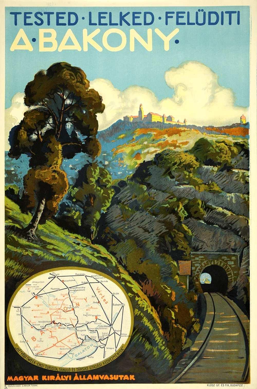 Tested lelked felüdíti a Bakony (1929). Jelzet: PKG.1929/206B – Térkép-, Plakát- és Kisnyomtatványtár http://nektar.oszk.hu/hu/manifestation/2789221