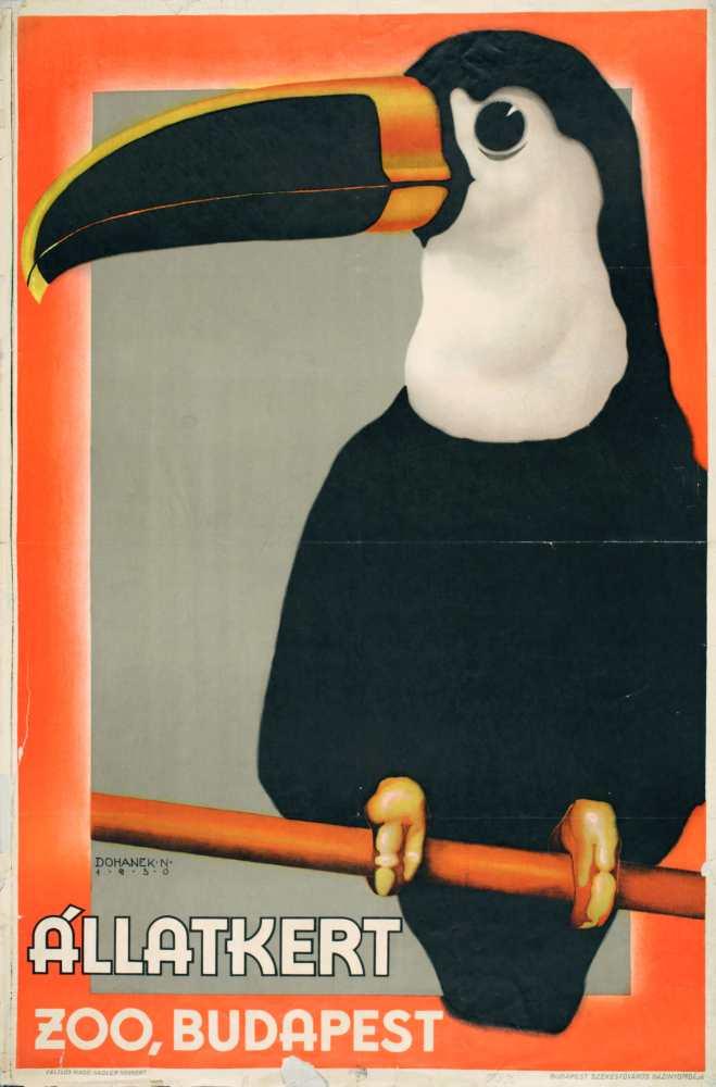 Állatkert. Plakát. Grafikus: Drohanek N. – Térkép-, Plakát- és Kisnyomtatványtár. Jelzet: PKG.1930/150