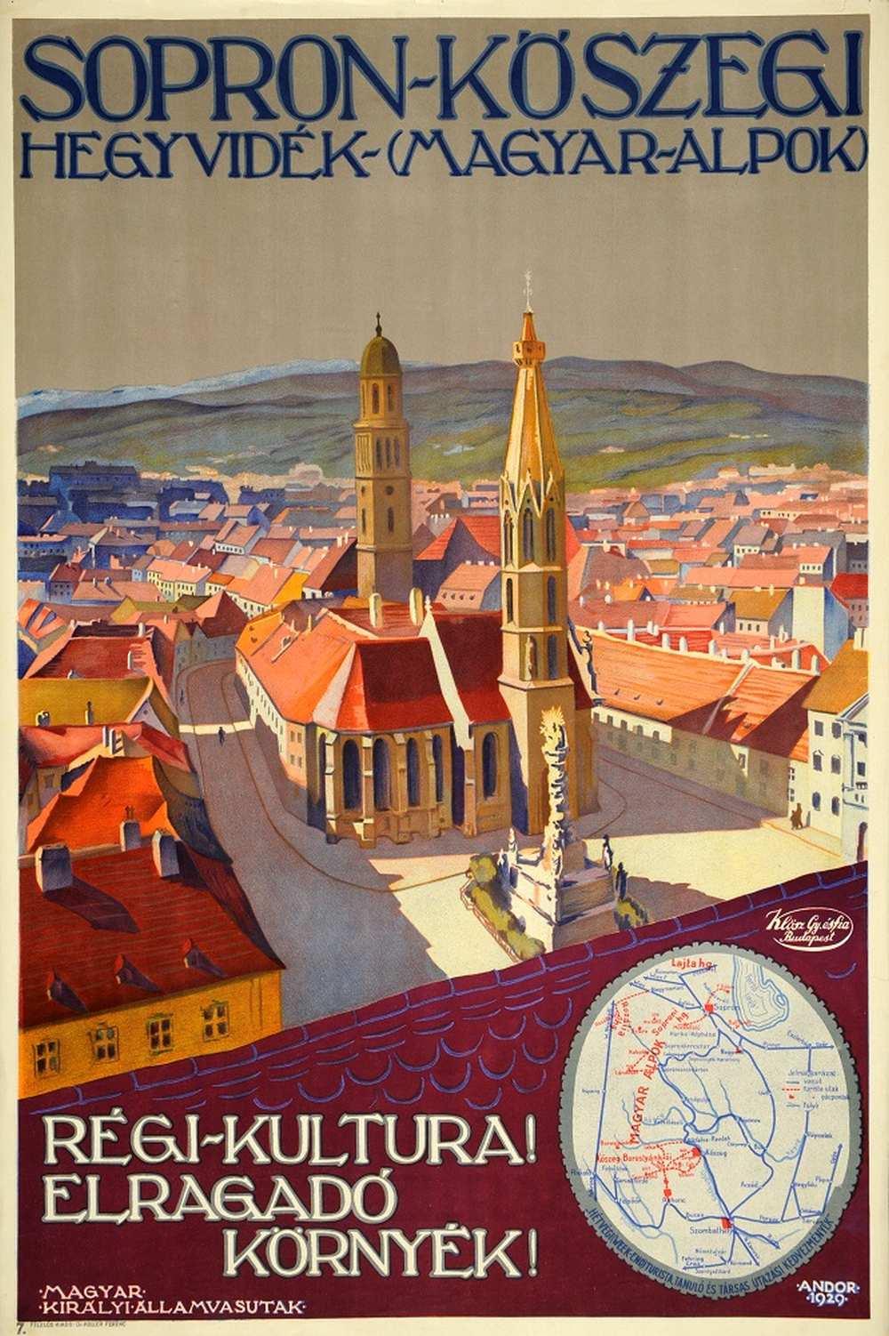 Andor Loránd: Sopron-Kőszegi hegyvidék (Magyar Alpok) (1929). Jelzet: PKG.1929/208 – Térkép-, Plakát- és Kisnyomtatványtár http://nektar.oszk.hu/hu/manifestation/2789226