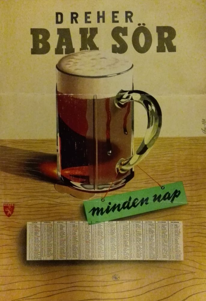 Dreher Bak sör minden nap. Jelzet: PKG.1947/602 – Plakát- és Kisnyomtatványtár