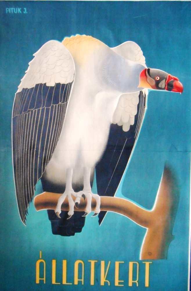 Állatkert. Plakát. Grafikus: Pituk József (1906–1991) – Térkép-, Plakát- és Kisnyomtatványtár. Jelzet: PKG.1942/208
