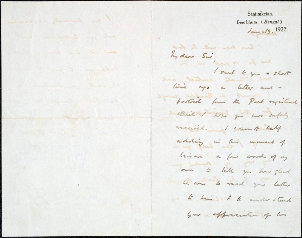 C. F. Andrews levele Baktaynak – Kézirattár