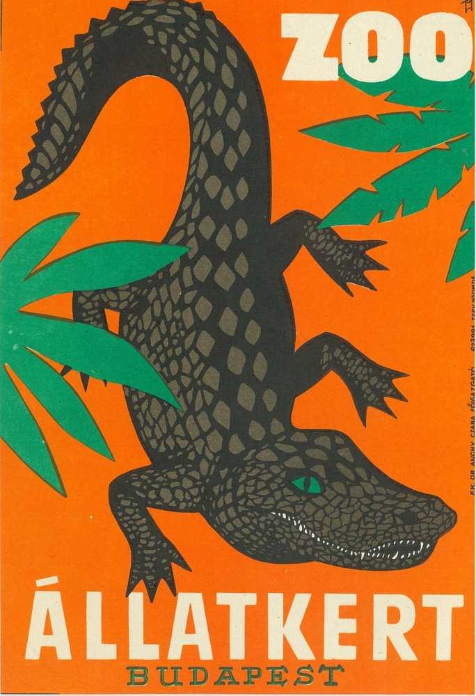 Zoo Állatkert. Plakát – Térkép-, Plakát- és Kisnyomtatványtár. Jelzet: PKG.1962/364