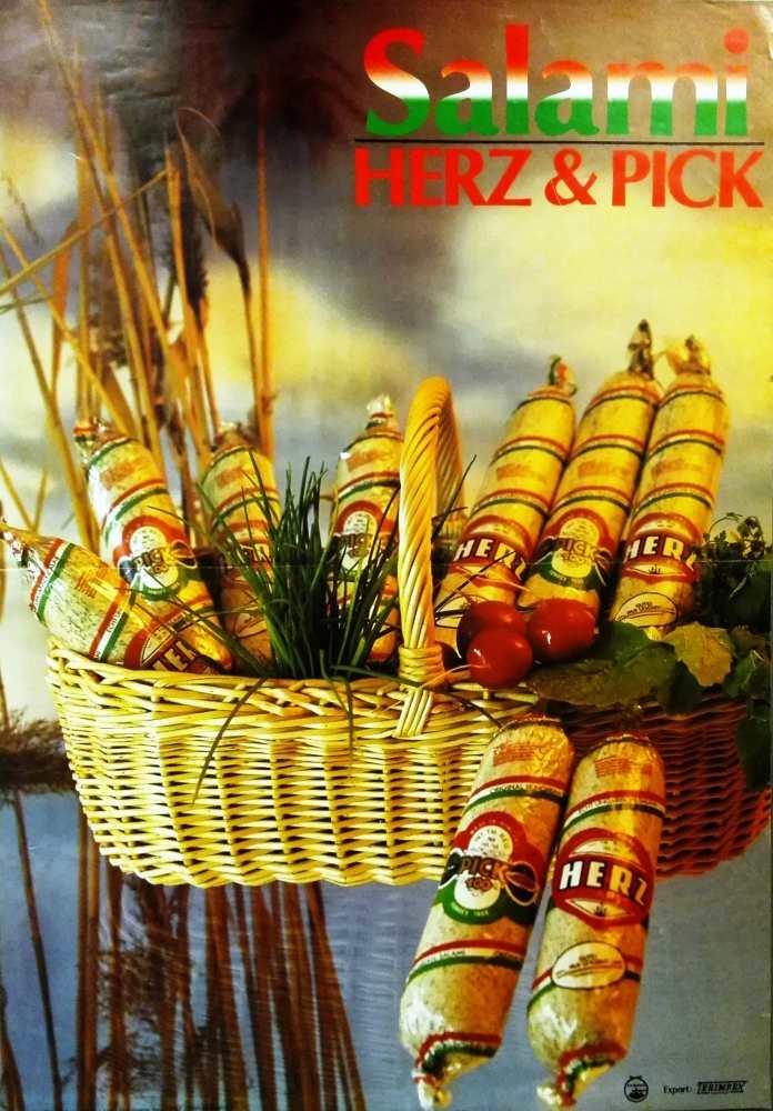 Salami Herz & Pick. Plakát, [1996] – Térkép-, Plakát- és Kisnyomtatványtár. Jelzet: PKG.1984/839