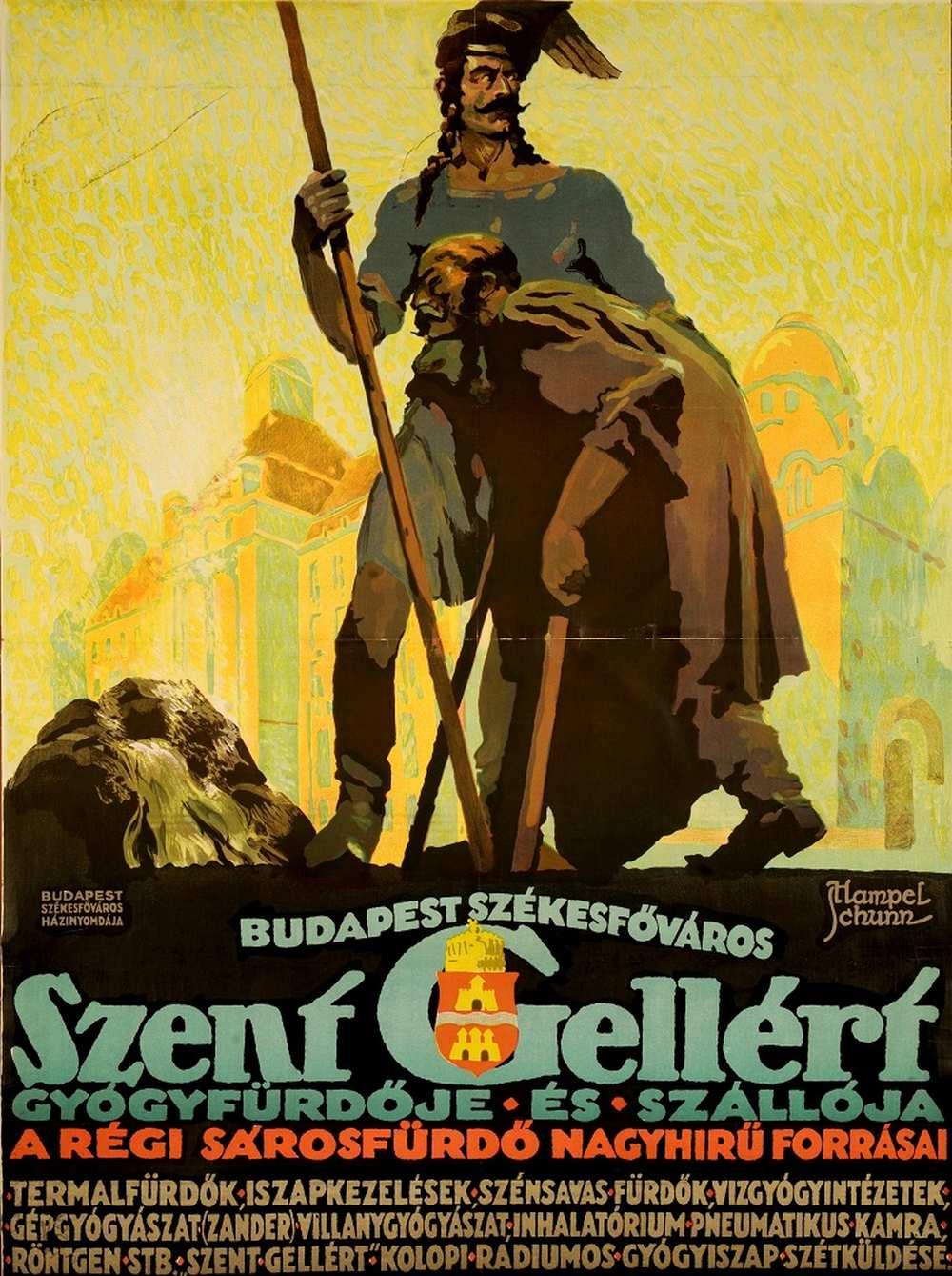Hampel József: Budapest Székesfőváros Szent Gellért Gyógyfürdője és Szállója (1924) – Térkép-, Plakát- és Kisnyomtatványtár. Jelzet: PKG.én/330 http://nektar.oszk.hu/hu/manifestation/2770069