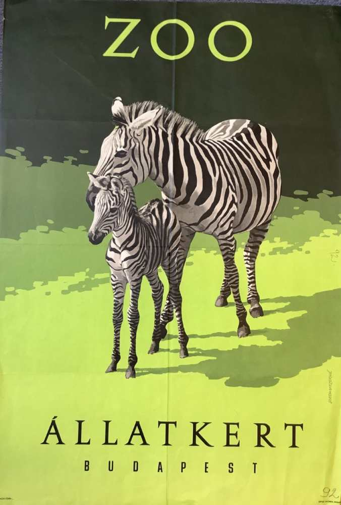 Zoo Állatkert. Plakát. Grafikus: Stermnitzerné – Térkép-, Plakát- és Kisnyomtatványtár. Jelzet: PKG.1962/365