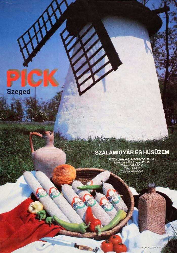 Pick Szeged. Plakát, [1990] – Térkép-, Plakát- és Kisnyomtatványtár. Jelzet: PKG.1990/872