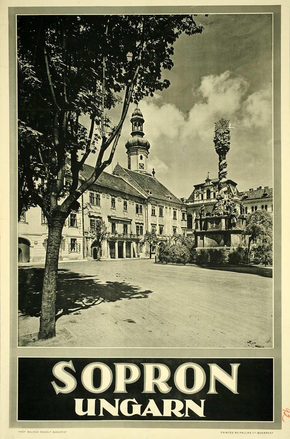 Balogh Rudolf: Sopron Ungarn (1929). Jelzet: PKG.1929/199 – Térkép-, Plakát- és Kisnyomtatványtár http://nektar.oszk.hu/hu/manifestation/2788803