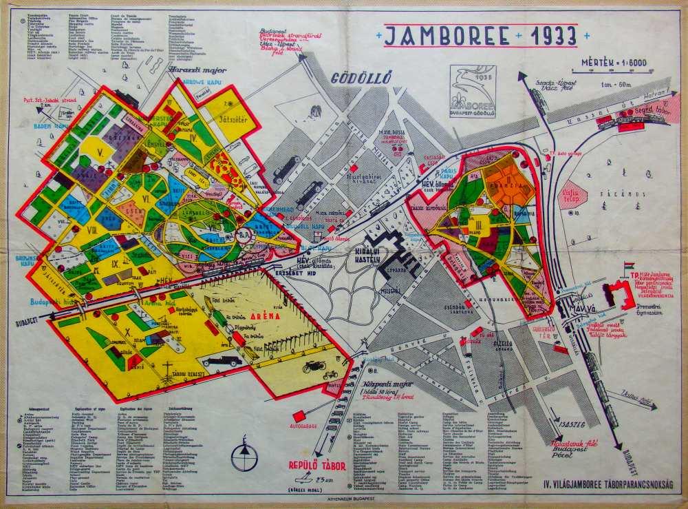 A Cserkész Világtábor elhelyezkedése és elrendezése – Térkép-, Plakát- és Kisnyomtatványtár, TM 1983