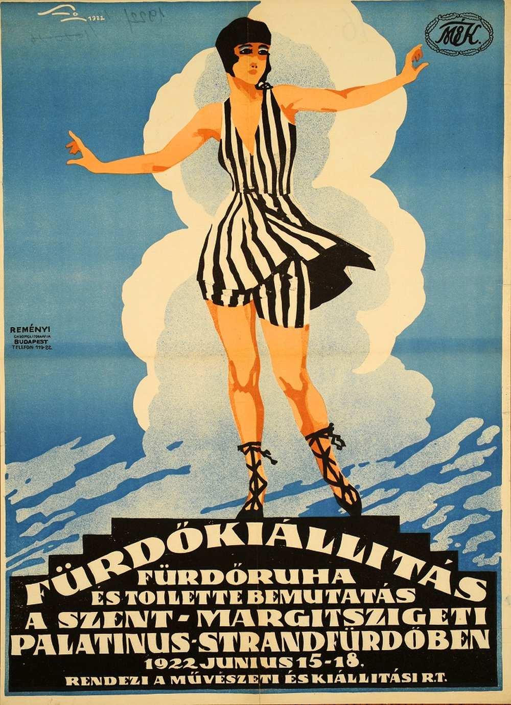 Santho Imre: Fürdőkiállítás (1922) – Térkép-, Plakát- és Kisnyomtatványtár. Jelzet: PKG.1922/14 http://nektar.oszk.hu/hu/manifestation/2776833