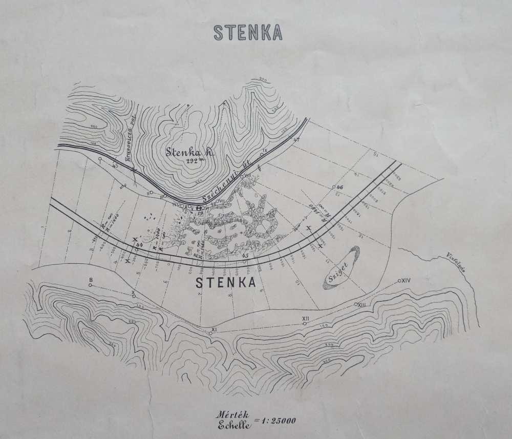 A zuhatag térképe, részlet. Jelzet: TM 4.374 – Térkép-, Plakát- és Kisnyomtatványtár