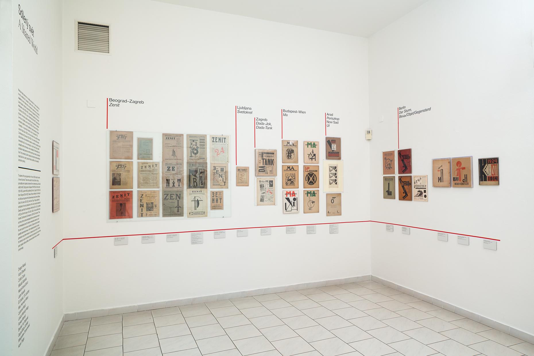 """Városok és folyóiratok, közöttük jobbra Kassák Lajos lapja, a """"Ma"""""""