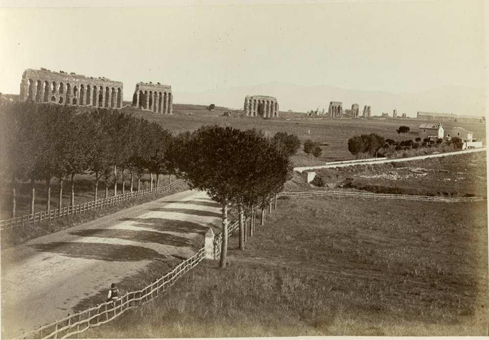 Gioacchino Altobelli: A Via Appia, 1860 körül, FTD 0348