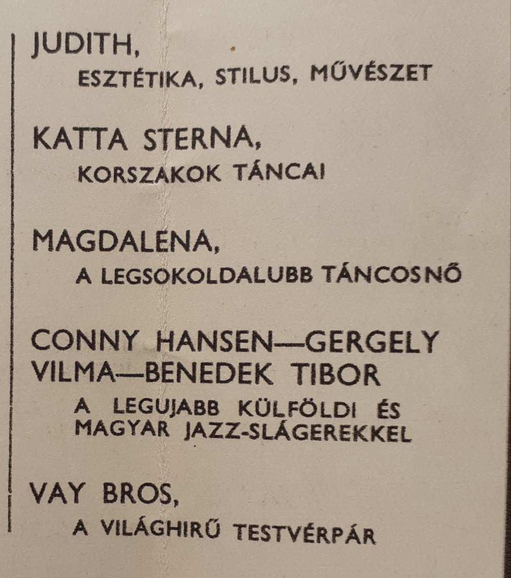 Benedek Tibor jazz-énekes. Az Arizona Csodabár műsora, 1936. Műsorfüzet. Aprónyomtatvány – Színháztörténeti és Zeneműtár