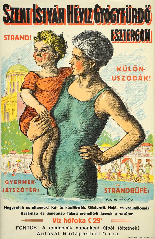 Manno Miltiades: Szent István Gyógyfürdő (1928) – Térkép-, Plakát- és Kisnyomtatványtár. Jelzet: PKG.1928/229 http://nektar.oszk.hu/hu/manifestation/2787227