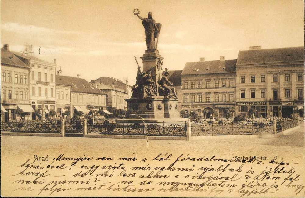 Az aradi Szabadság-szobor, Arad, 1896–1905 – Plakát- és Kisnyomtatványtár