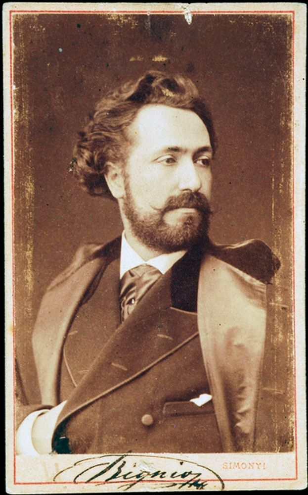 Bignio Lajos. Fénykép. Simonyi Antal, 1871 és 1873 között – Történeti fénykép- és videótár. Jelzet: FTA 363