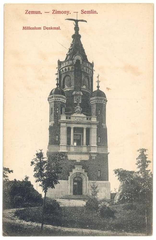Millenium Denkmal. Zimony. Képeslap. – Plakát- és Kisnyomtatványtár