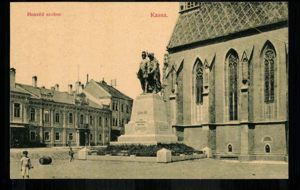 Kassa. Honvéd-szobor. 1908. Képeslap. Jelzet: Klap.P3/19 – Plakát- és Kisnyomtatványtár (Piarista képeslapgyűjtemény) http://www.kepkonyvtar.hu/?docId=61079