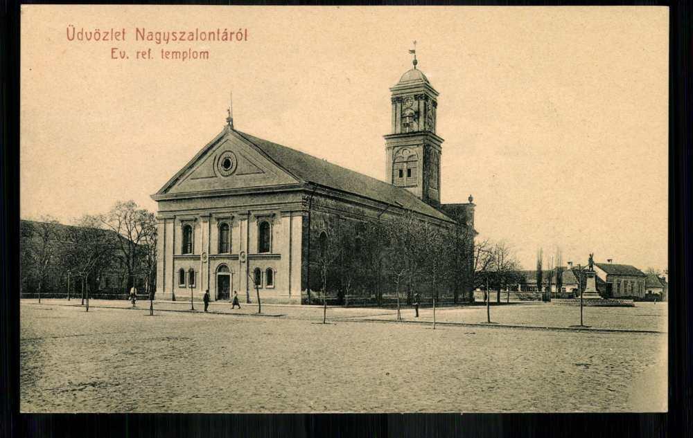 A nagyszalontai református templom és környezete – Térkép-, Plakát-, és Kisnyomtatványtár. Piarista gyűjtemény: P 14/64.