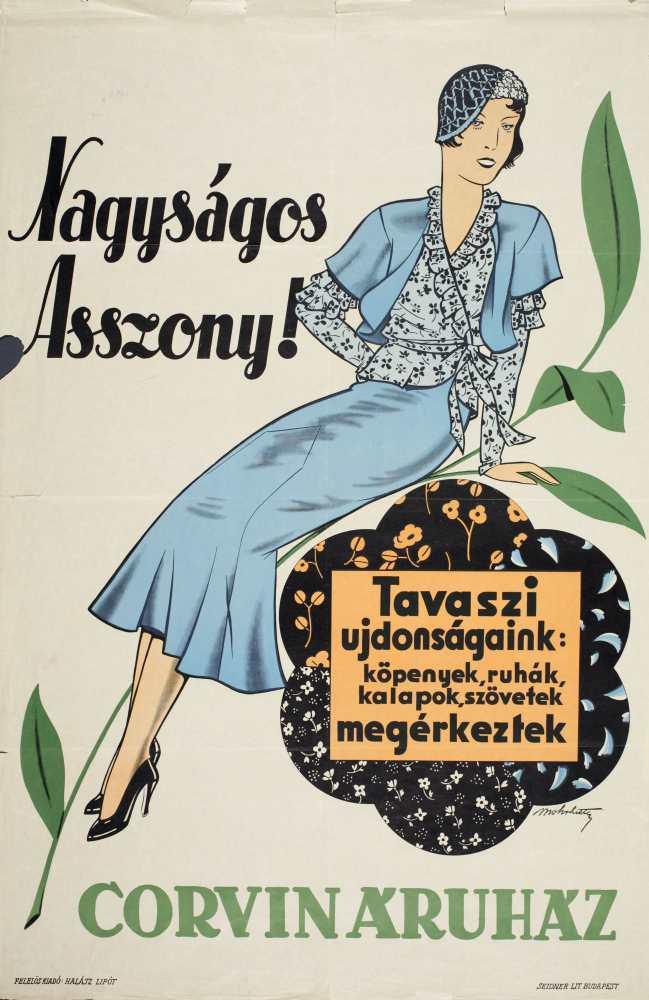 Nagyságos Asszony! Grafikus: Mohrlüder Vilmos. Jelzet: PKG.1931/207 – Plakát- és Kisnyomtatványtár