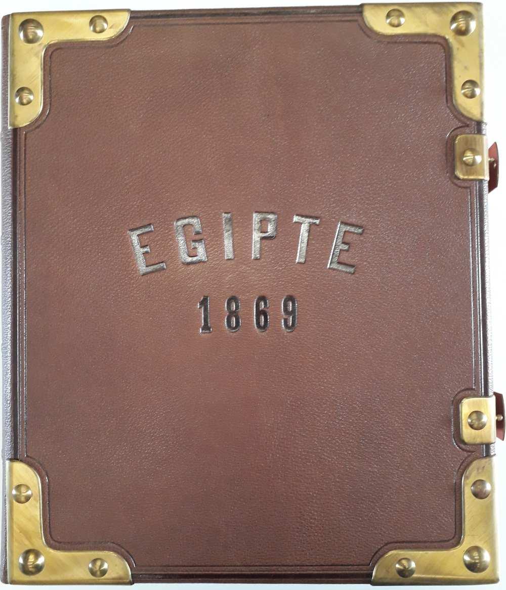 A Dm 744, eredetileg VIII. Art. 368 ld jelzetű, Egipte 1869 című album címoldala