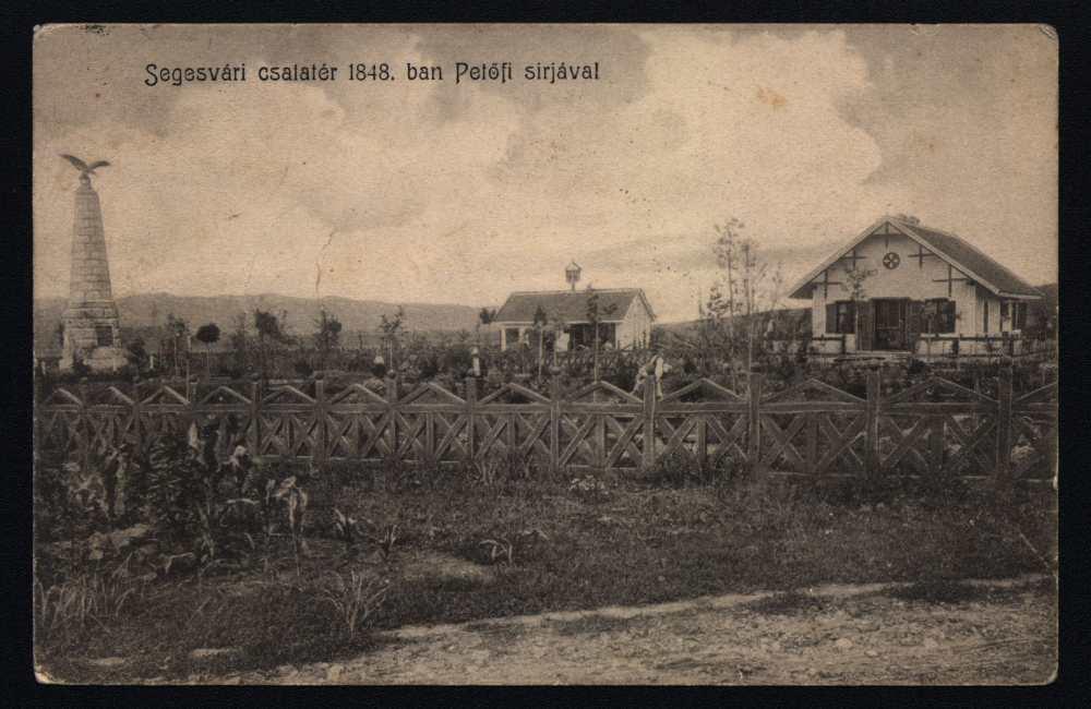 Segesvári csatatér 1848-ban (!) Petőfi sírjával – Térkép-, Plakát- és Kisnyomtatványtár, S 383.