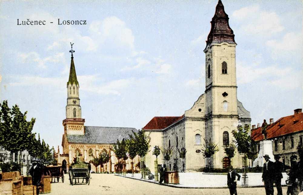 A Kubinyi tér Losoncon Kossuth Lajos szobrával – Térkép-, Plakát-, és Kisnyomtatványtár. Jelzet: L 422