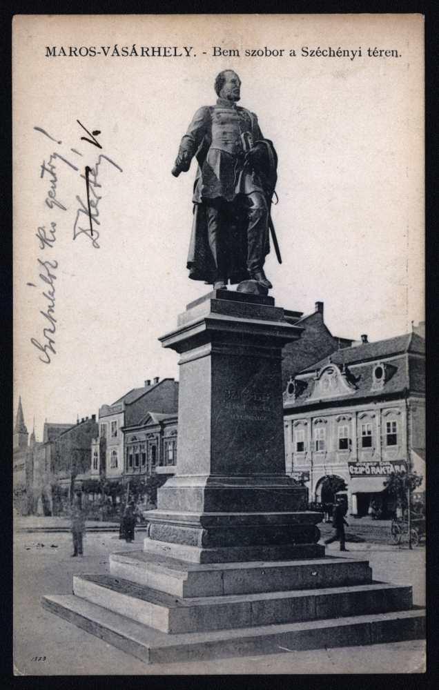 Bem József szobra Marosvásárhelyen – Plakát- és Kisnyomtatványtár. Jelzet: M 1105.