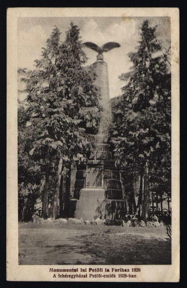 A fehéregyházai Petőfi-emlék 1928-ban – Térkép-, Plakát- és Kisnyomtatványtár, F 32.