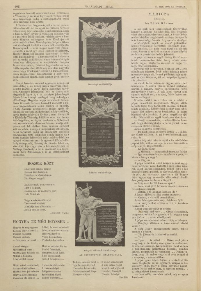 Vasárnapi Újság, 53. évf. 25. sz. (1906. jún. 24.), 2. o. – Elektronikus Periodika Archívum https://epa.oszk.hu/00000/00030/02706/pdf/VU_EPA00030_1906_25.pdf