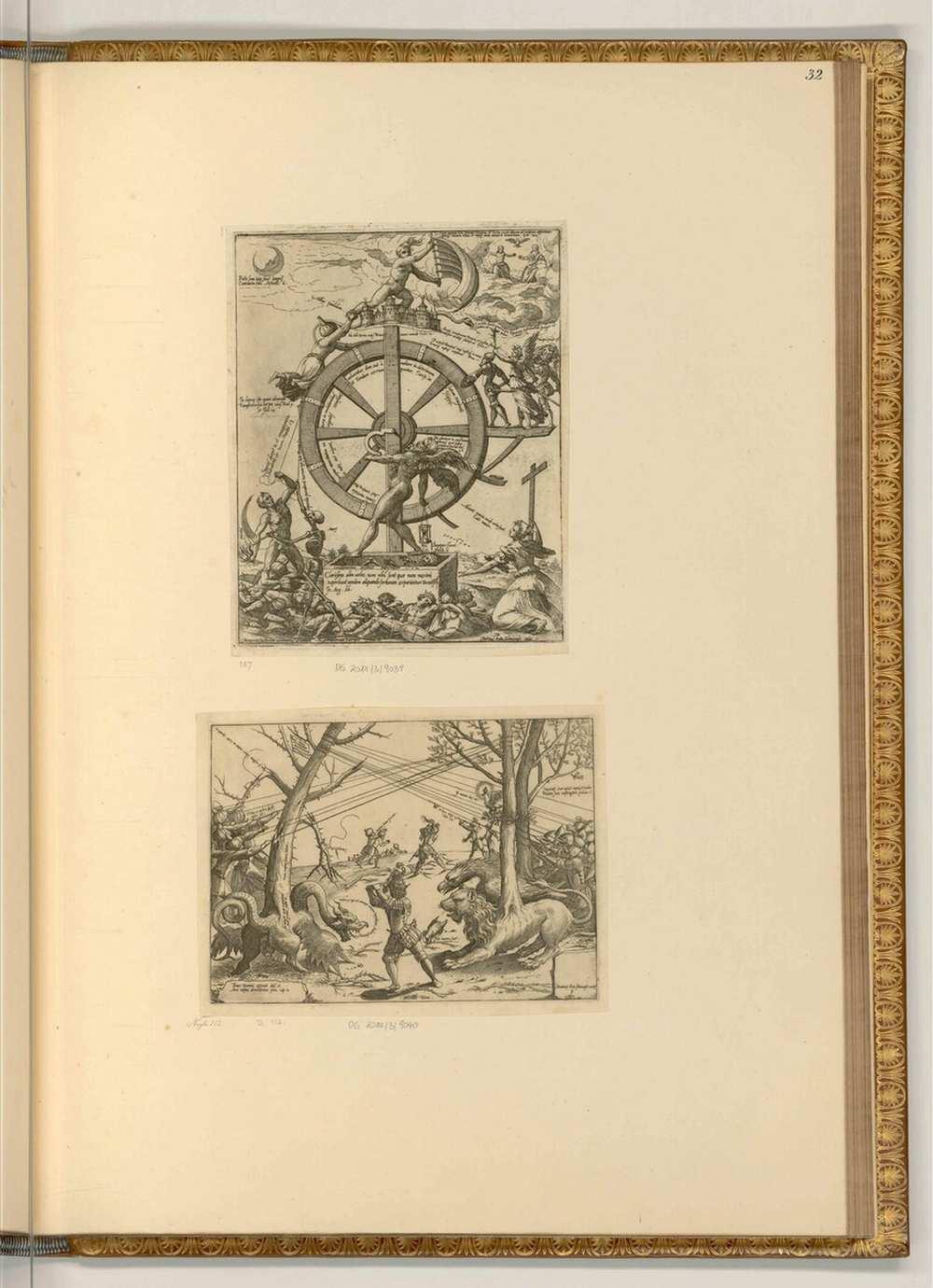 Az oszmánok és keresztények közötti harc allegorikus ábrázolása, 1572. Albertina, Wien. Jelzet: It/I/34/32 – A kép forrása: Albertina Sammlungen Online https://sammlungenonline.albertina.at/?query=search=/record/objectnumbersearch=[It/I/34/32]&showtype=record
