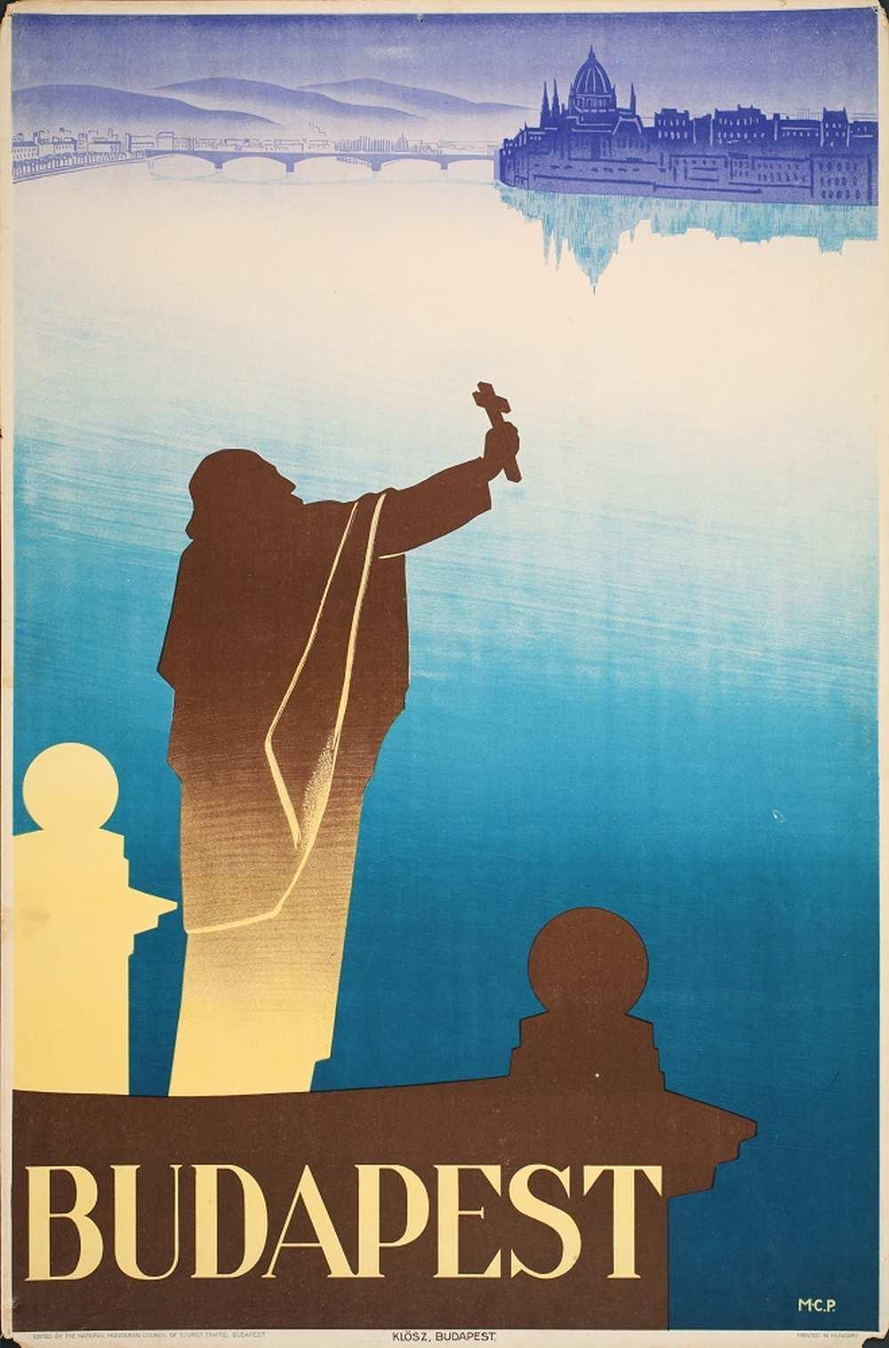 Molnár-C. Pál: Budapest (1931). Jelzet: PKG.1931/117 – Térkép-, Plakát- és Kisnyomtatványtár http://nektar.oszk.hu/hu/manifestation/2790841