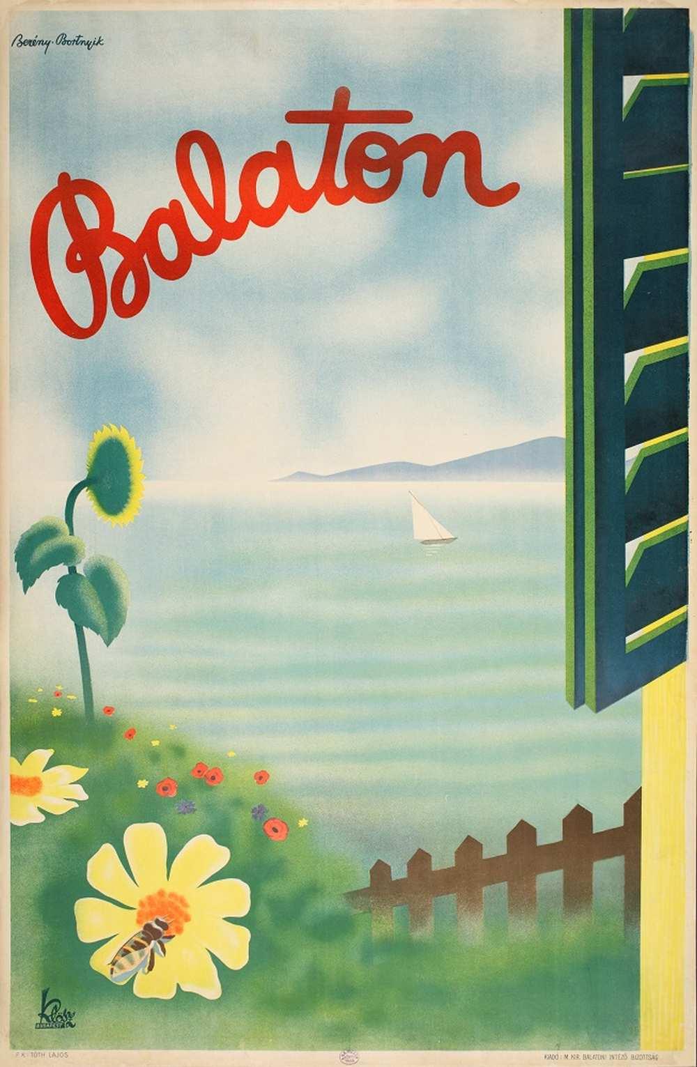 Berény Róbert – Bortnyik Sándor: Balaton (1931). Jelzet: PKG.1931/136 – Térkép-, Plakát- és Kisnyomtatványtár http://nektar.oszk.hu/hu/manifestation/2792231