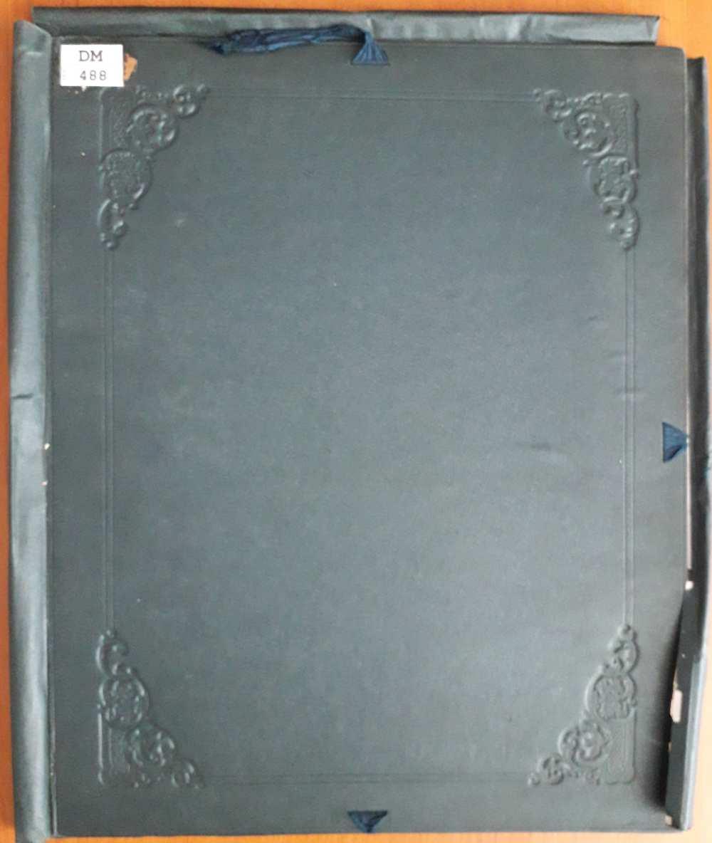 A Dm 488, eredetileg VIII. Art. 368 lh jelzetű egyiptomi fényképalbum mappája