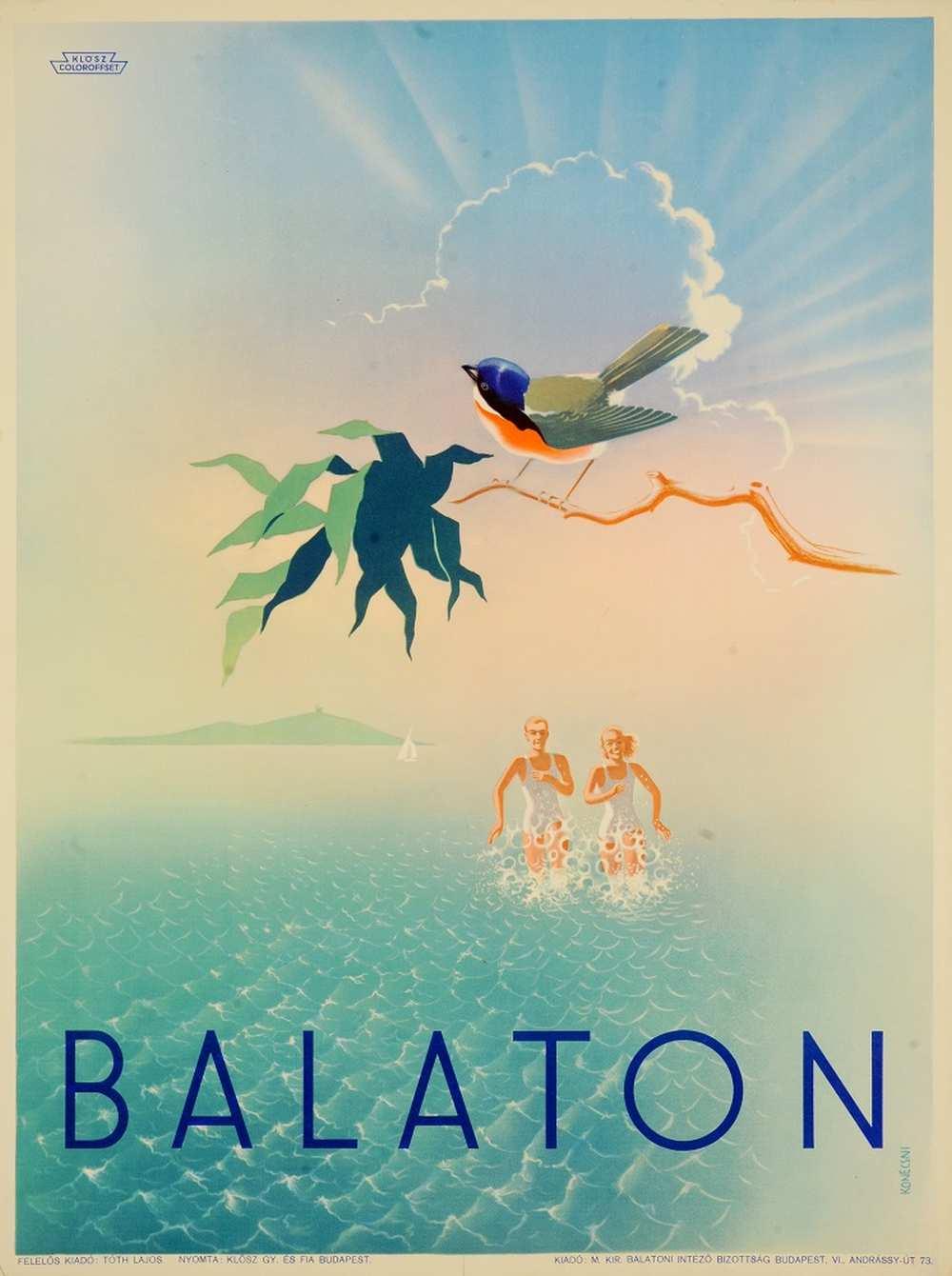 Konecsni György: Balaton (1935). Jelzet: PKG.én/71 – Térkép-, Plakát- és Kisnyomtatványtár http://nektar.oszk.hu/hu/manifestation/2768720