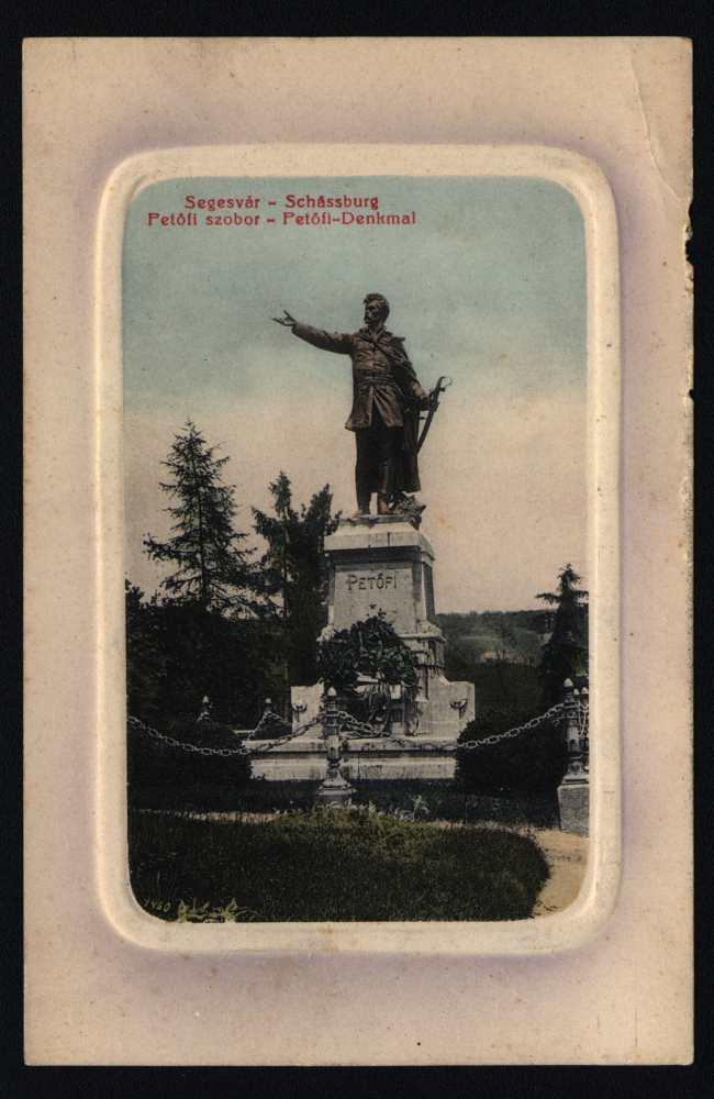 Petőfi szobra Segesváron – Térkép-, Plakát- és Kisnyomtatványtár, S 392.