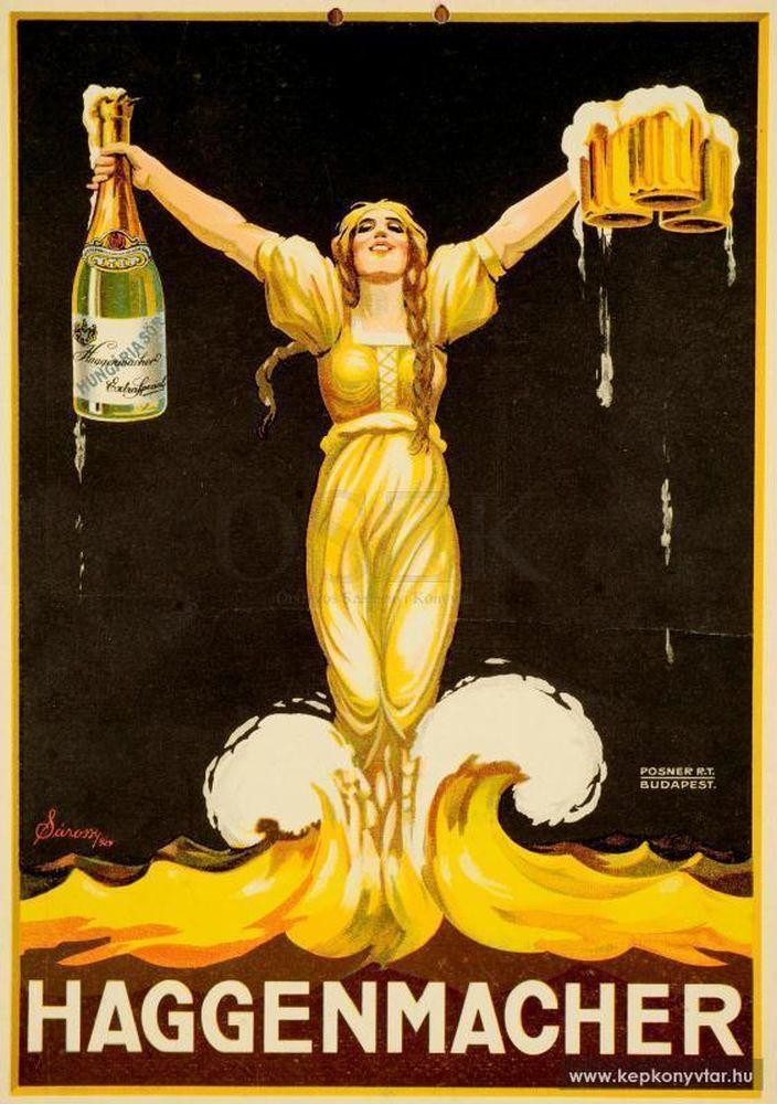 Haggenmacher. Grafikus: Sárossy Endre. Jelzet: PKG.1924/69 – Plakát- és Kisnyomtatványtár; Magyar Digitális Képkönyvtár http://www.kepkonyvtar.hu/?docId=84213