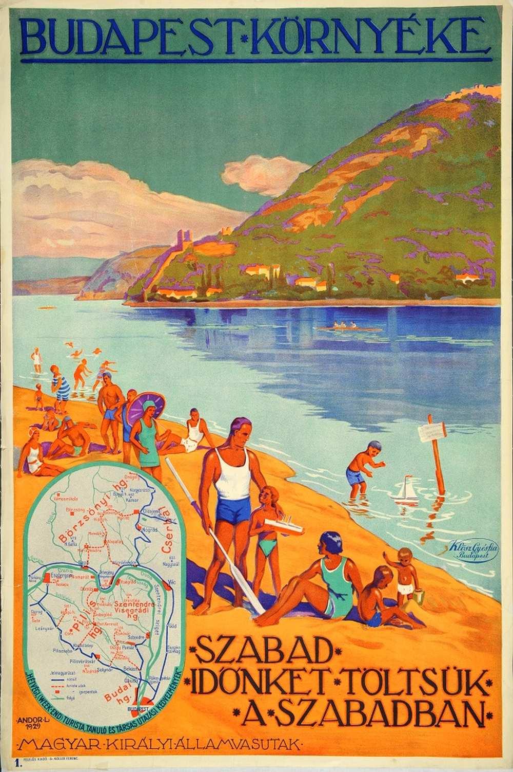 Andor Loránd: Budapest környéke (1929). Jelzet: PKG.1929/203 – Térkép-, Plakát- és Kisnyomtatványtár http://nektar.oszk.hu/hu/manifestation/2789203