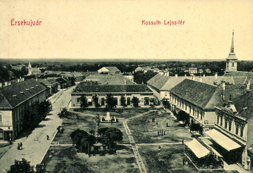 Érsekújvár, Kossuth Lajos tér – Térkép-, Plakát-, és Kisnyomtatványtár. Piarista gyűjtemény: P 47/53.