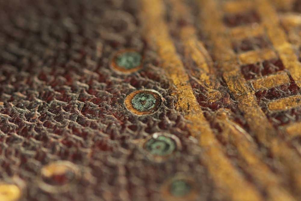A másik használt szín zöldes árnyalatú (Cod. Lat. 414). Fotó: Tóth Zsuzsanna