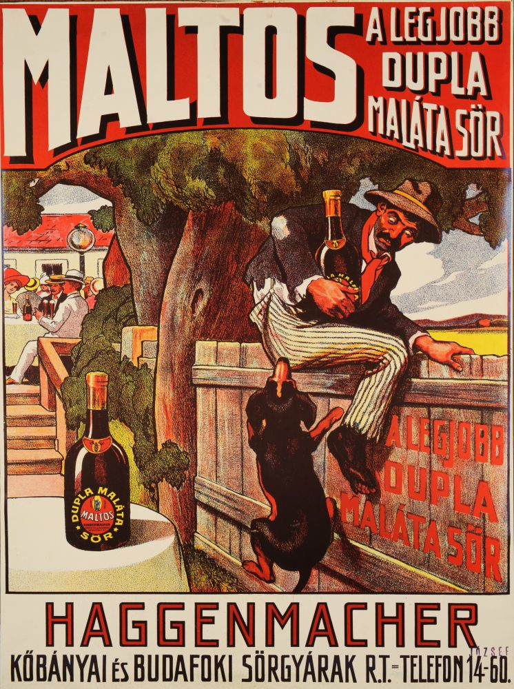 Maltos a legjobb dupla maláta sör. Jelzet: PKG.1914e/732/r1 – Plakát- és Kisnyomtatványtár; Magyar Digitális Képkönyvtár http://www.kepkonyvtar.hu/?docId=77809