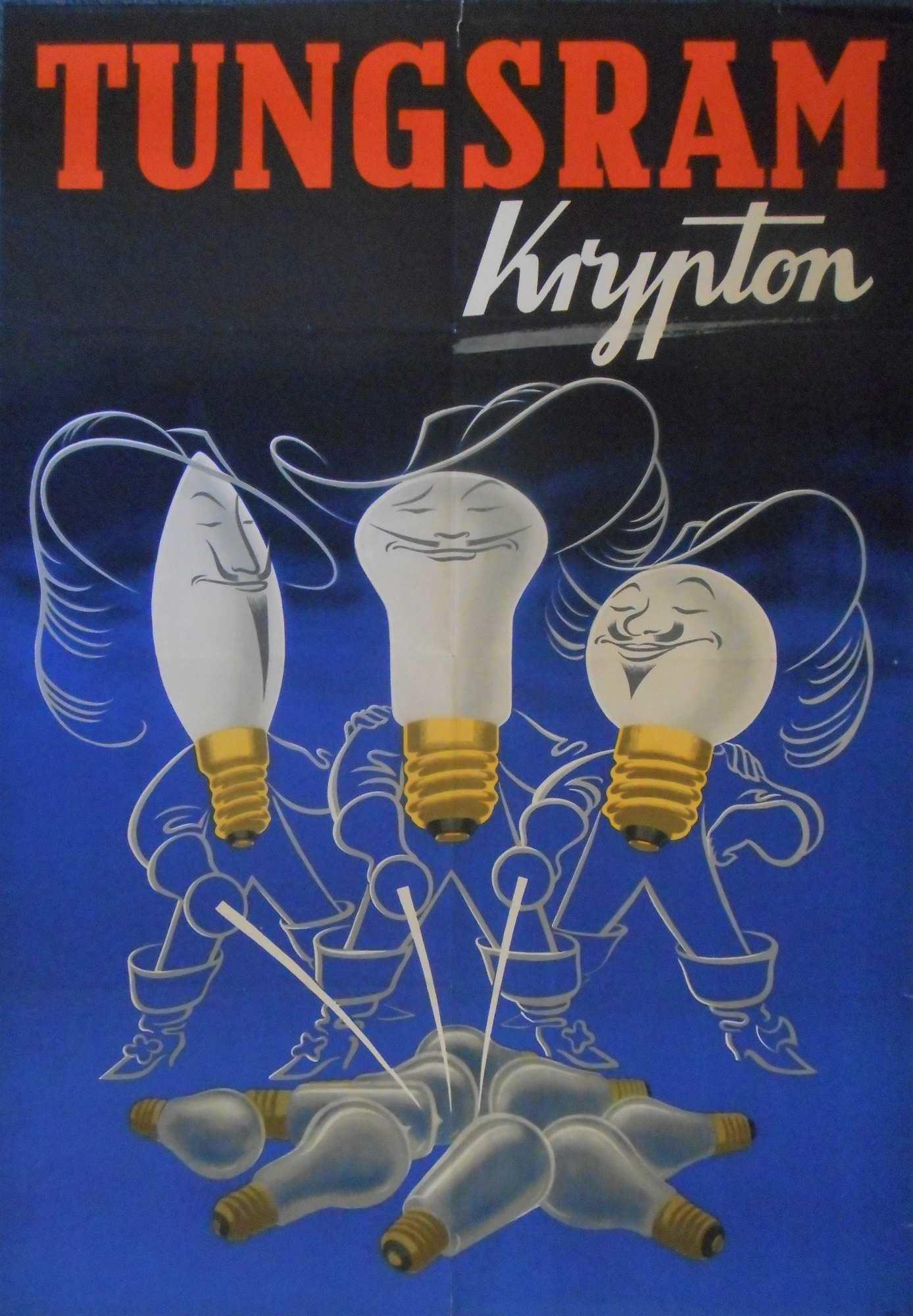 Tungsram krypton. Jelzet: PKG.1952/472_a – Plakát- és Kisnyomtatványtár